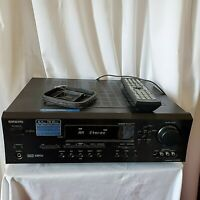 Onkyo TX-SR502 6.1CH Receiver Remote Dolby Pro Logic IIx Bundle Tested Working