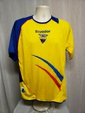 Ecuador Marathon FEF Adult Yellow One Size Football Soccer Jersey