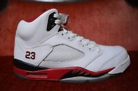 CLEAN Nike Air Jordan Retro 5 V Fire Red Black Tongue Size 10.5 136027 120