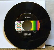 BRENDA LEE I'M SORRY / THAT'S ALL YOU GOTTA DO 45 RPM RECORD