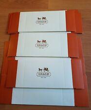"Coach Gift Box set of 6 /6.75""x4.75""x2 w/2 coach gold stickers per box"