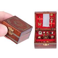 Casa de muñecas Miniaturas Joyero Caja de muñecas Decoración Casa Accesorios