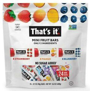 That's It Mini Fruit Bars Strawberry, Mango, Blueberry 24 ct 16.8 oz