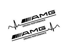 AMG Mercedes Driving Performance Side x2 Skirt Vinyl Sticker Decal JDM EURO
