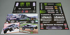 RC Car Truck Short Course Racing TOYOTA TUNDRA MONSTER Energy  Logos Sponsors