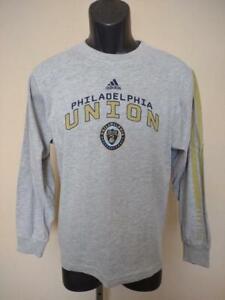 New Mended Philadelphia Union Youth Size M Medium 10/12 Gray Adidas Shirt