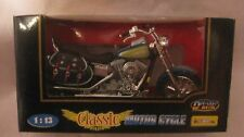 Classic Motor Cycle In A Blue & Green 1:13 Scale Diecast New dc1310