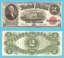 1917 $2 FR# 60 VF/XF United States Notes / Legal Tender / Red Seal  stk# KL17CCK