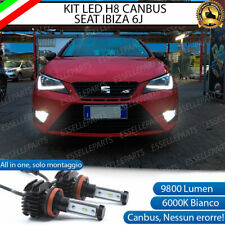 KIT FULL LED LAMPADE H8 6000K BIANCO 9800 LUMEN FENDINEBBIA PER SEAT IBIZA 5 V