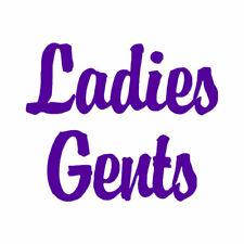 Ladies Gents - Vinyl Decal Sticker - Multiple Colors & Sizes - ebn2549