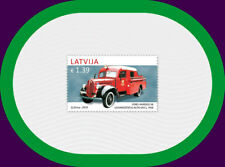 fire truck / LATVIA 2017 old car  history automobile 1938 FORD - VAIROGS V8  MNH