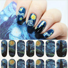 Full Self Nail Wraps Stickers Art Decals Adhesive Polish Foils Decoration
