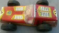 VINTAGE TIN TOY PULL UP RACING CAR WOOD METAL COMMUNIST SOVIET RUSSIA USSR CCCP