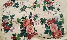 "2 Peony floral fruit reversible cushioned print placemats 14"" x 19"" NWOP"