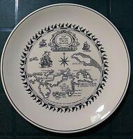 "Wedgwood British Virgin Island Island Services Tortola souvenir plate 10"" across"