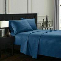 Egyptian Comfort 4Pcs Deep Pocket 1800 Count Pillowcase Sheets Bed Sheet Set D1