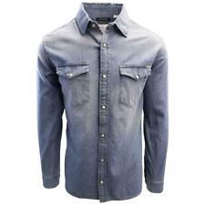 Jack & Jones Men's Medium Blue Denim Slim Sheridan L/S Shirt (Retail $59.50)