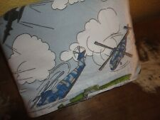 COMPANY KIDS AIRPLANES HELICOPTER MILITARY BLUE GRAY (1) TWIN DUVET 54 X 80