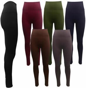 High Waist Ladies Leggings Sports Control Tummy Gym Yoga Trousers Size 8 - 24