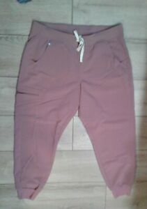 Misses Figs Scrub Bottoms Joggers  Size Large  Dark Pink W18SW2005
