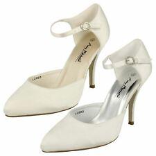 9a2832c3c Ladies Anne Michelle High Heeled Wedding Shoe L2993 White 5 UK Standard