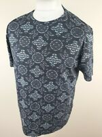 Mens Ted Baker Floral Paisley Baroque T Shirt Blue 6 2xl Xxl 44 Chest