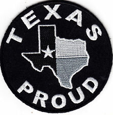"""""""TEXAS PROUD""""- LONE STAR STATE - STATE OF TEXAS - BIKER - VEST -Iron On Patch"""