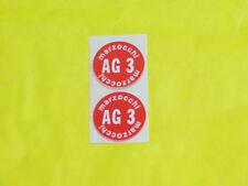 COPPIA ADESIVI AMMORTIZZATORI MARZOCCHI SERBATOI OLIO AG3 / Old Sticker Vintage