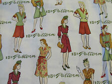 VINTAGE WOMENS DRESS PATTERNS ERA BY TIMELESS TREASURES 100% cotton fabric FQ