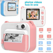 Kids Instant Digital Polaroid Camera Zink Zero Ink Printing +150 Film Sheets Kit