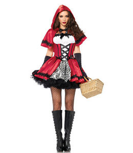Sexy Ladies Adult Little Red Riding Hood Fancy Dress Costume