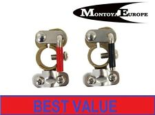 Pair Car Battery Terminals Clamps Quick Release Brass Easy Fit