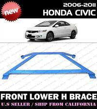 **  06-11 Honda Civic LX EX Si coupe sedan 8th FG2 FA5 FRONT H-BRACE (BLUE) **