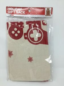 """Holiday Gift Sack 100% Canvas 19"""" x 27"""" Video Game Controller Print"""