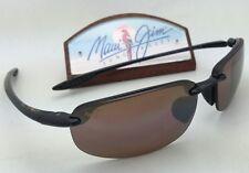 Polarized MAUI JIM Sunglasses HO'OKIPA MJ 407-02 Black Frame w/HCL Bronze Lenses