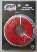 Red Layout Wire 20 Gauge HO N SCALE ATLAS 316 TRAIN TRACKS LAYOUT 50 Feet