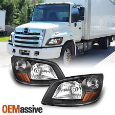 Fit Black 2006-10 Hino 145 / 2006-14 Hino 258LP/ 2008-14 Hino 258ALP Headlights
