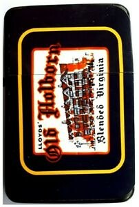 Petrol Lighter with Retro OLD HOLBORN TOBACCO advert on front with Velvet Pouch.