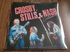 CROSBY STILLS & NASH - CATHEDRAL LP COLOURED VINYL LIVE 1982 NEW SEALED