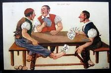 PLAYING CARDS DE VIERT' BUR -  COMIC PC CANCEL - SWITZERLAND 1910-20s