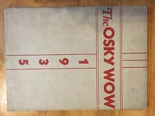 1935 Jackson High School Ohio The Osky Wow Yearbook