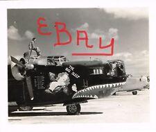 "WWII PHOTO 8X10 OF B-24 BOMBER 14TH USSAF ""NOSE ART ""THE BIG SLEEP"" 308TH BG"