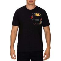 Hurley Mens T-Shirt Black Size XL Fatcap Pocket Logo Graphic Tee $28- 074