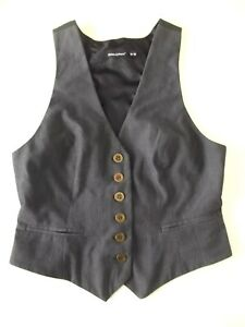 Ladies waistcoat Atmosphere Size 10 Grey Racer back Lined Good cond ChristmasRR1