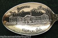 Sterling Souvenir Spoon Illinois Normal Western State, 1900