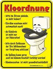 WC Schild Fun Blechschild geil bedruckt Geprägt - Klo Ordnung Kloordnung
