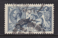 Great Britain Sc 181 used 1919 10sh blue Seahorses F-VF