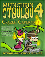 Munchkin Cthulhu 4: Crazed Caverns Card Game Expansion Steve Jackson Games