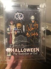 NECA Evolution of Evil Signed By John Carpenter, Nick Castle, Johnson & Sandin.