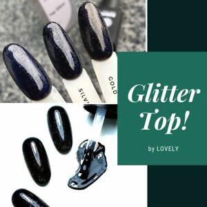 Glitter Top Cover Shimmer Top Coat Sparkle gel Lovely Nail Art